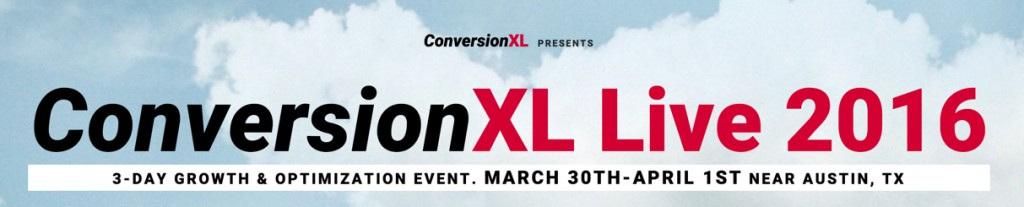 I'll be speaking at ConversionXL Live!