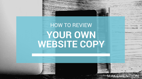 How to review your own website copy
