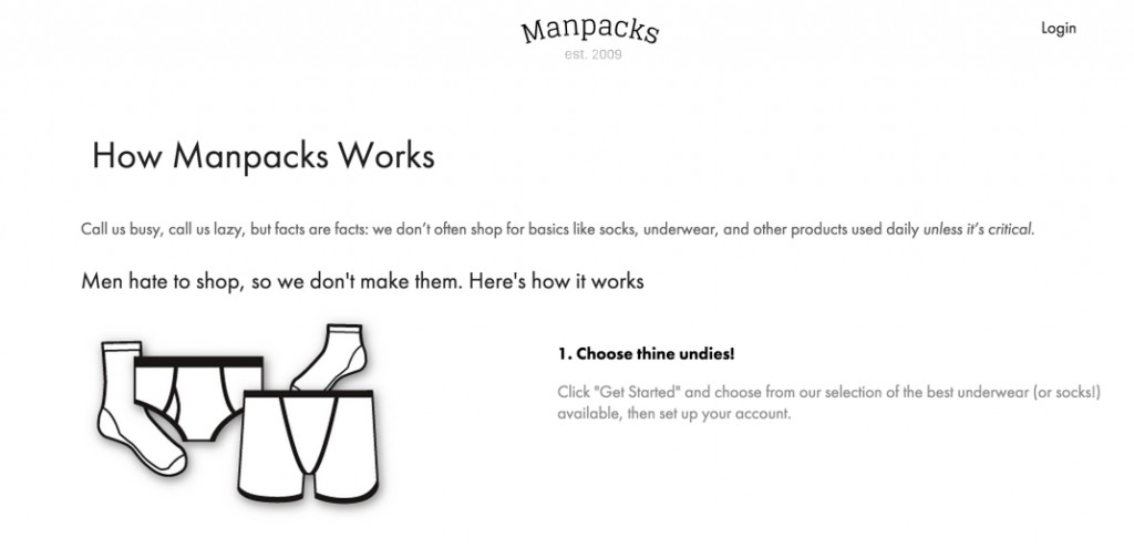 Copywriting inspiration - Manpacks
