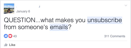 FB group survey question